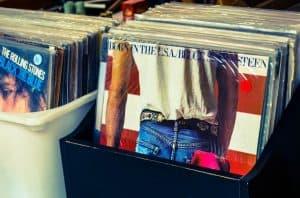 crates of vinyl